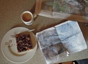 Tourenplanung in der Hütte