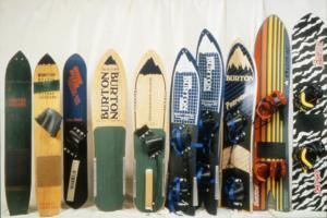 Die ersten Burton Snowboards