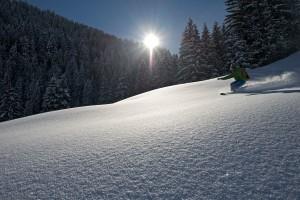 Snowboarden im Pulver